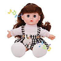 Deals on Lifelike Musical Singing Baby Doll 13-inch w/Open/Close Eyes