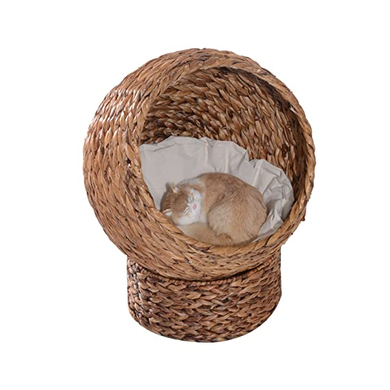 Pawhut Cama para Gatos Desmontable Casa para Mascotas Menos de 5kg ...