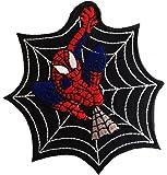 Spiderman Spider Web Action-figure Comic-figure Superhero Comic CartoonPatch ''10,3 x 9,0 cm'' - Écusson brodé Ecussons Imprimés Ecussons Thermocollants Broderie Sur Vetement Ecusson
