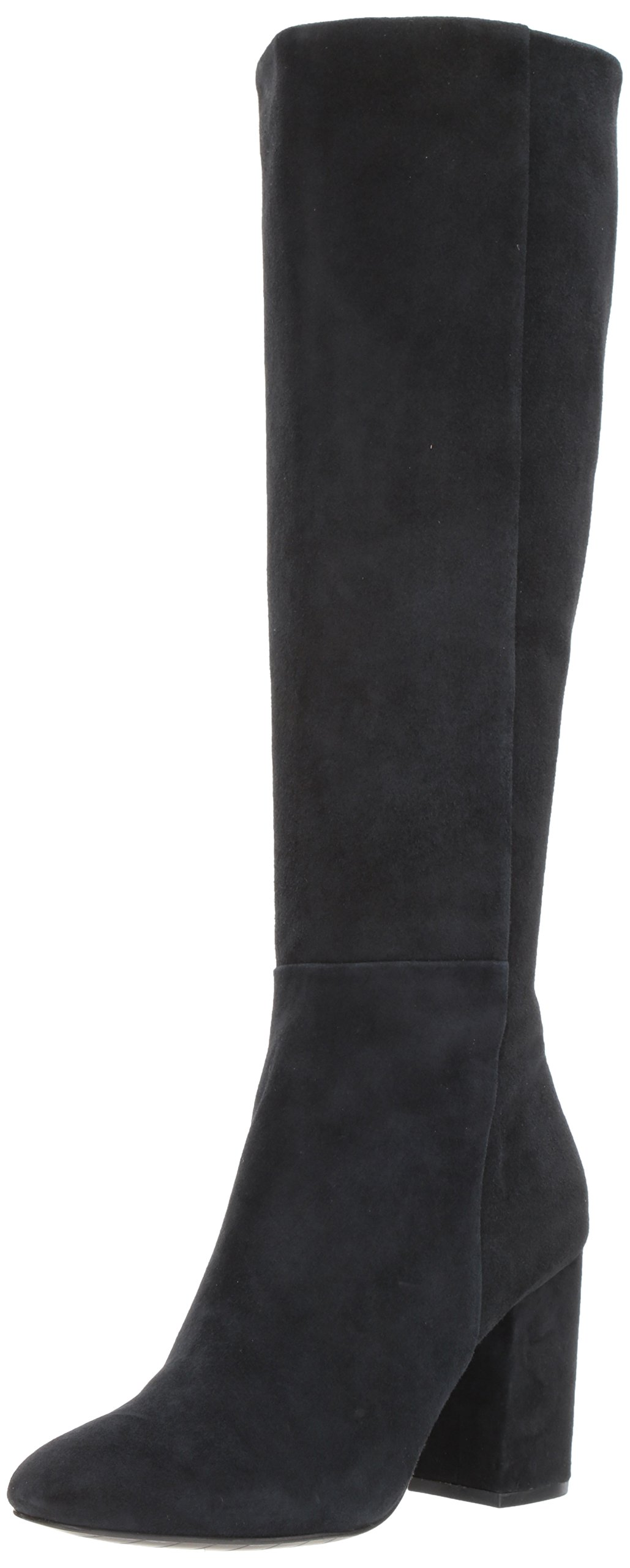 Kenneth Cole New York Women's Clarissa Knee High Tall Stacked Heel Engineer Boot, Black, 10 M US
