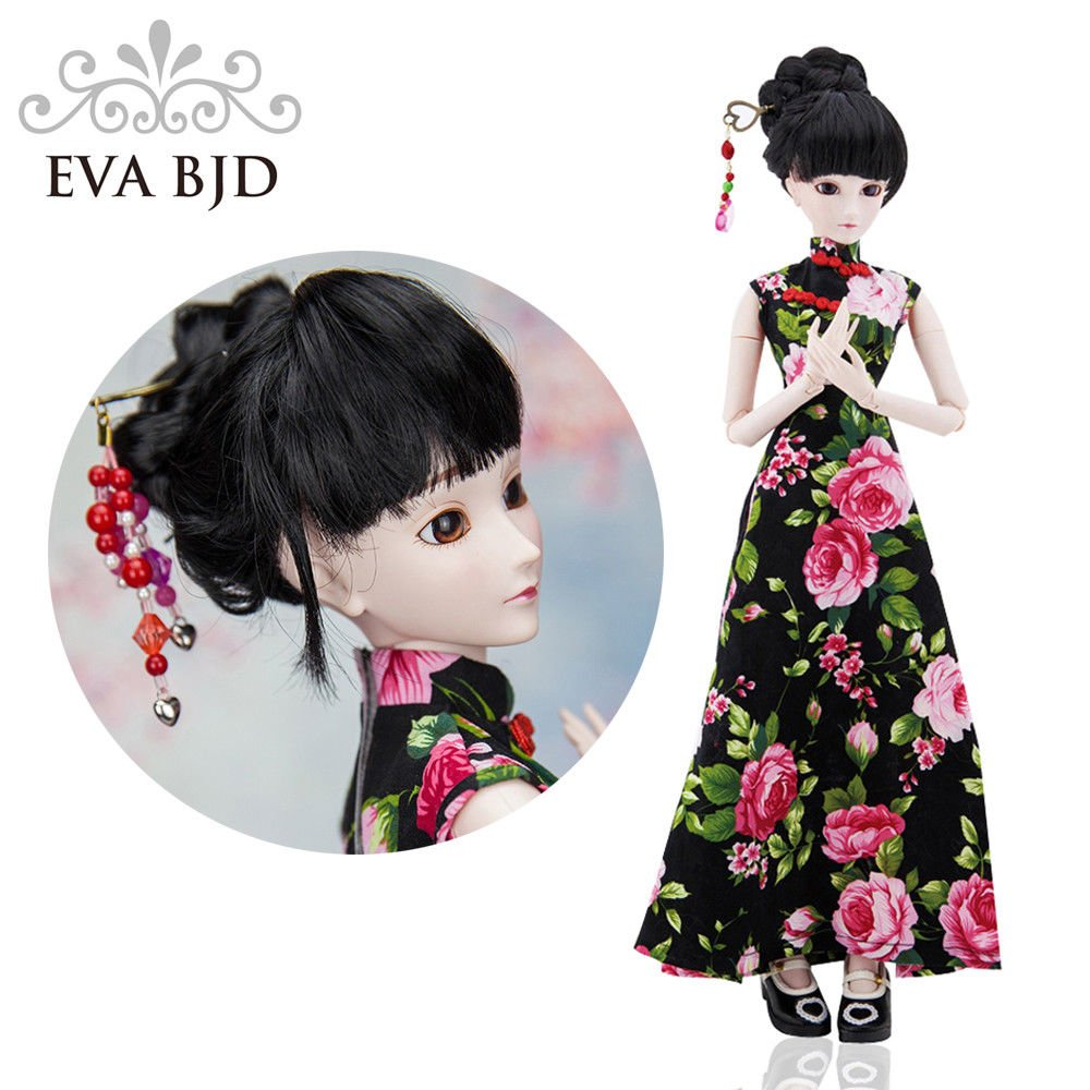 Chinese Cheongsam Donna 1/3 SD Doll 60cm 24'' Ball Jointed BJD Dolls Full Set Reborn Toy SD Surprise Doll by EVA BJD (Image #2)