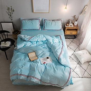 Einfarbig Polyester Bettwäsche Einfache Schlafzimmer Set Duvet Set