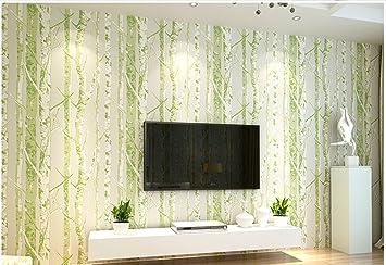 Tapete, Amerikanischer Stil Ländlich Normallack Retro Wohnzimmer  Schlafzimmer Vliestapete ( Farbe : Grün )