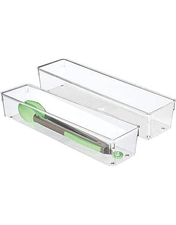 InterDesign Organizador Linus 10 x 41 x 8 cm. Transparente, 41x10x8 cm