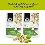 WONDERLAND FOODS (DEVICE) Roasted and Salted Pistachios 400 g Jumbo Size with 200 g Each - Pack of 2