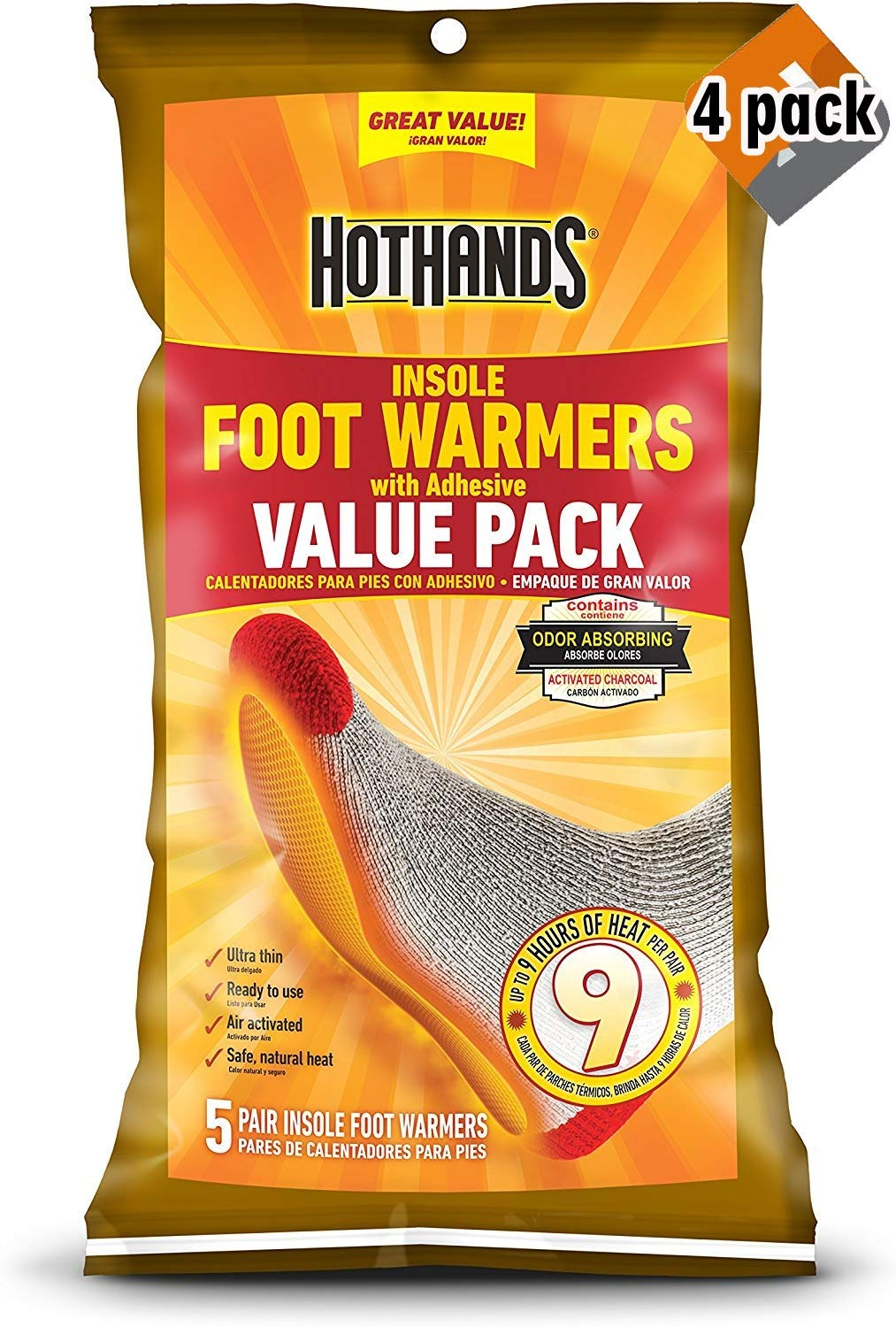 HotHands Insole Foot Warmer - 4 Pack by HotHands