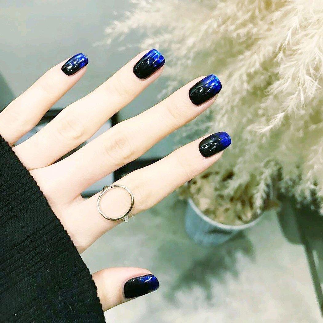 jovono Full falsas uñas consejos de moda gradiente Fake Nails para las mujeres y las niñas: Amazon.es: Belleza