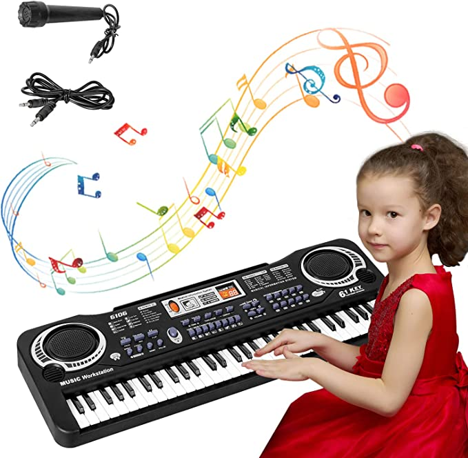 sanlinkee Teclado Piano 61 Teclas, Teclado Musical ...