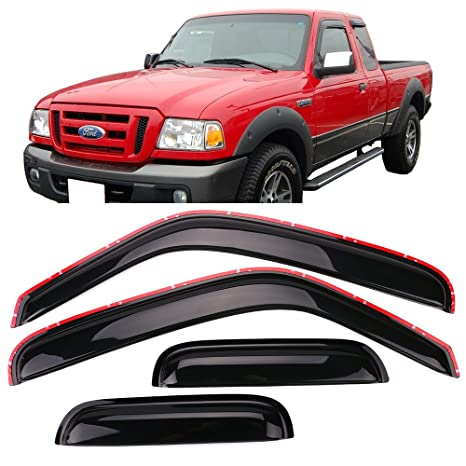 Amazon.com  Window Visor Fits 1999-2011 Ford Ranger Mazda  c141d6cdeda