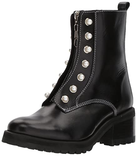 a93d0212440d Steve Madden Women s Granite Combat Boot Black Leather 6 ...