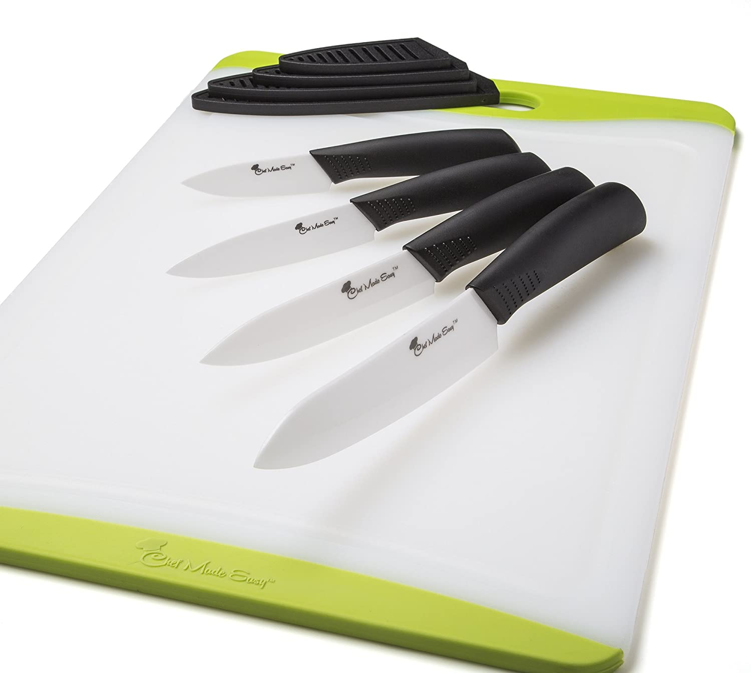 ceramic blade chefs knife set kitchen knives with case