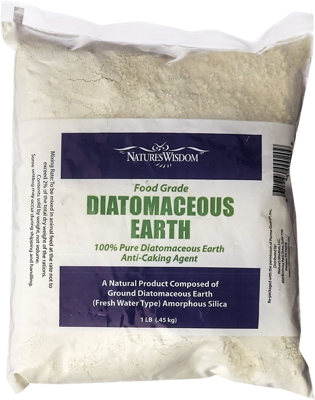Nature's Wisdom NW020 Food Grade Diatomaceous Earth 1-Pound