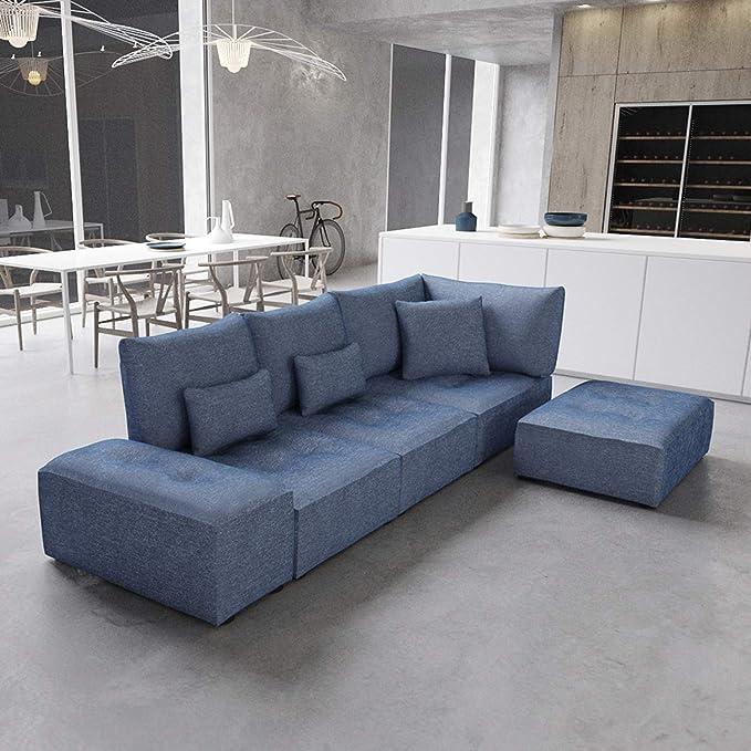 Marca Amazon - Alkove Elvas - Módulo uniplaza con almacenaje y cojín adicional para sofá modular, 70 x 100 cm, azul marino