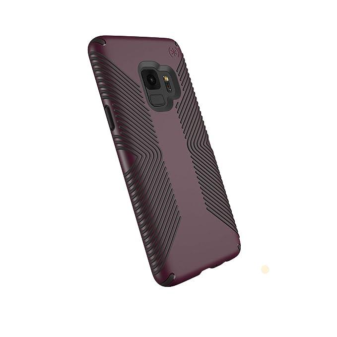 new product 0227f 79305 Speck Presidio Grip Samsung Galaxy S9 Case, Fig Purple/Ochre Black -  109509-7279