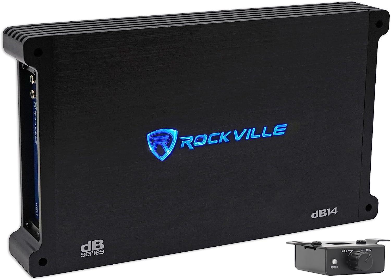 Rockville dB14 4000 Watt//2000w RMS Mono Class D 2Ohm Car Audio Amplifier+Amp Kit