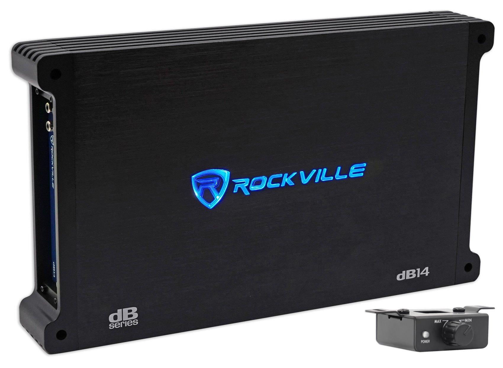 Rockville 4000 Watt/1000w RMS Mono Class D 2 Ohm Amplifier Car Audio Amp (dB14) by Rockville