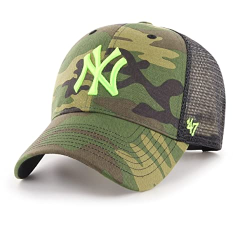 77c324a115eee Image Unavailable. Image not available for. Color   47 Brand Trucker Cap -  Branson NY Yankees Wood camo