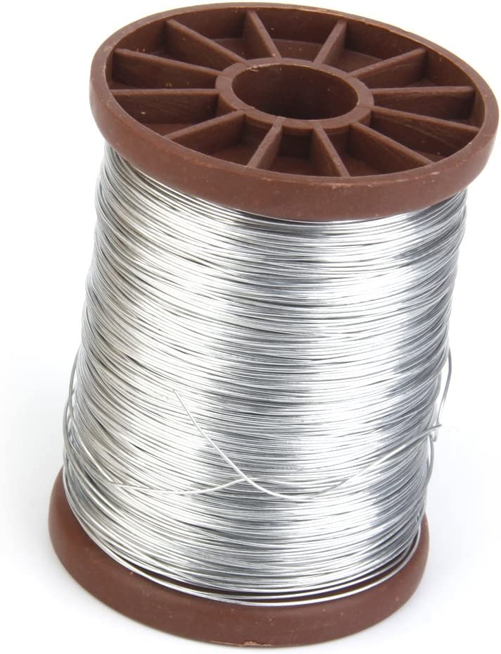 perfk Filo di Ferro Zincato da 0,5 Mm 500G per Apicoltura di Cornici di Alveare