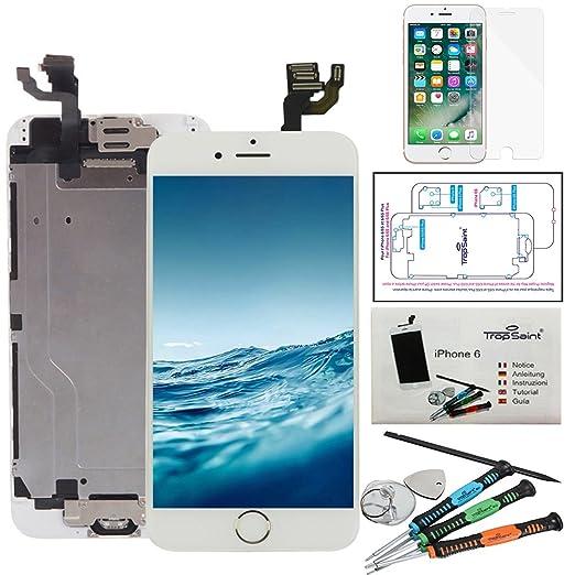 Trop Saint® Pantalla LCD Blanco para iPhone 6 Completa Premium Kit de reparación con Guía, Herramientas y Film Protector Pantalla: Amazon.es: Electrónica