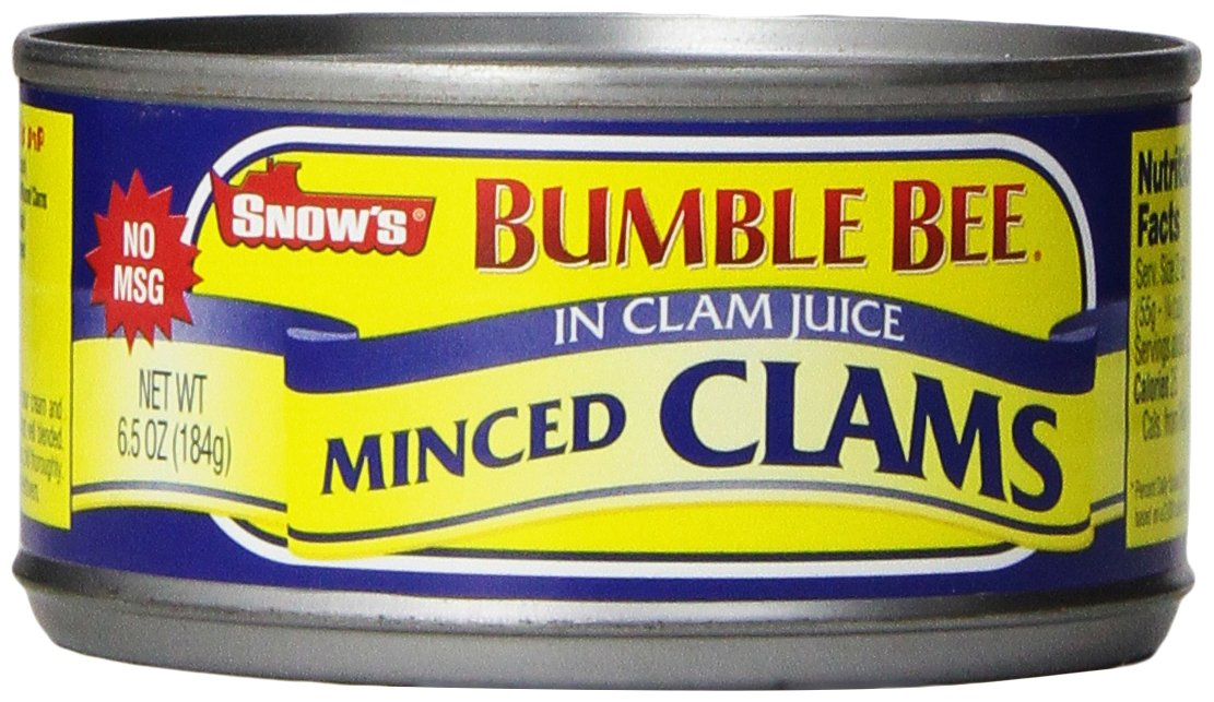 Bumble Bee Snow's Minced Clams in Clam Juice, 6.5 oz