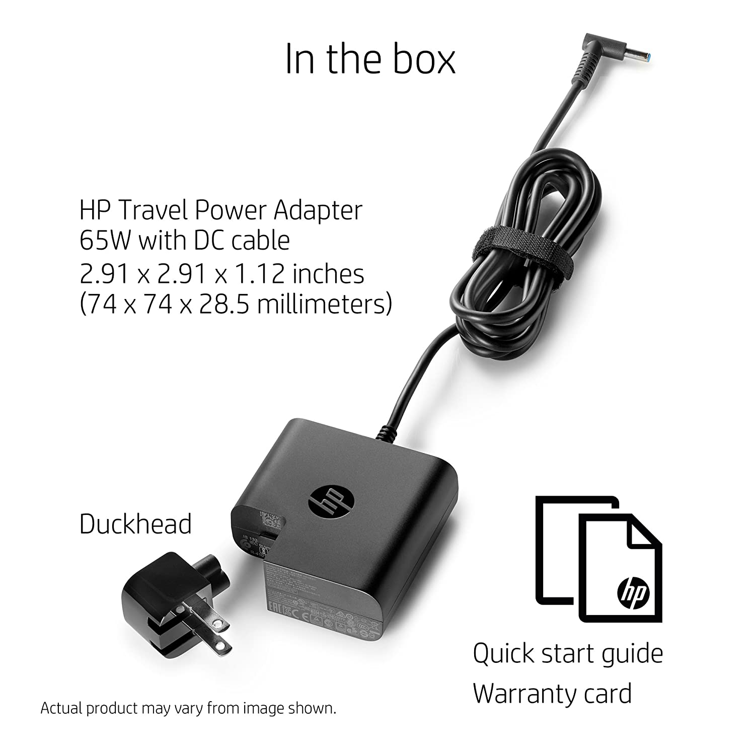 Amazon HP 65W Laptop Travel Power Adapter 45 Millimeter Connector Computers Accessories