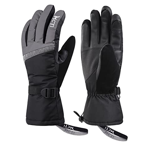 feec144ee MCTi Ski Gloves,Winter Waterproof Snowboard Snow 3M Thinsulate Warm  Touchscreen Cold Weather Women Gloves