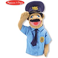 """Melissa & Doug Police Officer Puppet (Detachable Wooden Rod for Animated Gestures, Ideal for Left- or Right-Handed Children, 15"""" H x 5"""" W x 6.5"""" L)"""