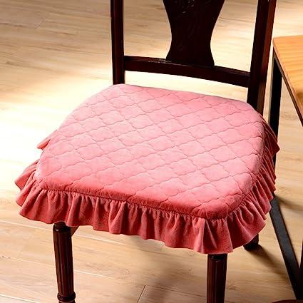 Merveilleux VDEGHSDGHFDDS Thicken And Enlarge Chair Cushion,Skirt Side Paragraph Seat Cushion  Fabric Dining Chair Cushion