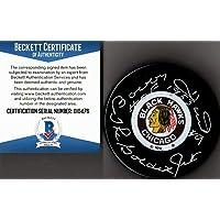 """$76 » Beckett-bas Bobby Hull #9""""hof 1983""""""""golden Jet"""" Autographed Blackhawks Puck 76 - Beckett Authentication"""