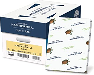 product image for Hammermill Colored Paper, 20 lb Ivory Printer Paper, 8.5 x 11-10 Ream (5,000 Sheets) - Made in the USA, Pastel Paper