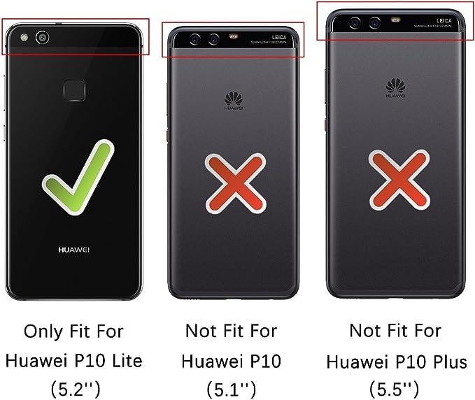 Rssviss Funda Huawei P10 Lite Funda de Cuero para Huawei P10 Lite Flip [4 Ranuras para Tarjetas y Moneda] con [Cierre magnético] Estuche Tarjeta para Huawei P10 Lite Cáscara 5.2