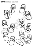 Simplicity Sewing Pattern Baby Shoes 6 Variations
