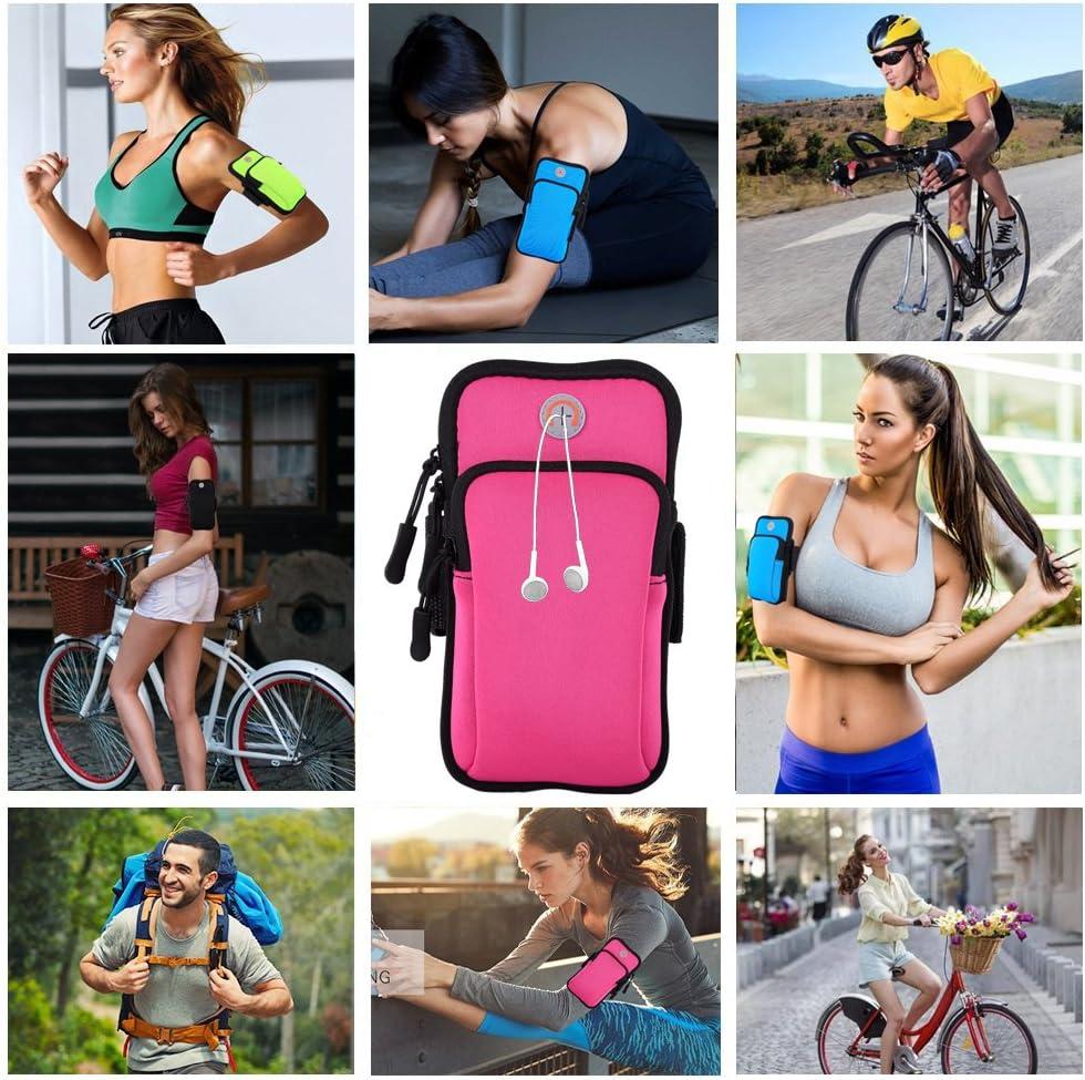 Veriya Sportarmband mit Mobiltelefonhalterung M/ünzen Handy Radfahren Wandern Schl/üssel Sportarmband 5,7 Zoll Workout Armtasche f/ür 14,5 cm Kreditkarte