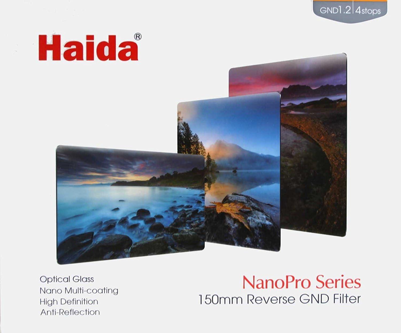 4-stop ND Optical Glass Filter 150 Haida NanoPro 150mm MC Graduated Neutral Density 1.2 Reverse