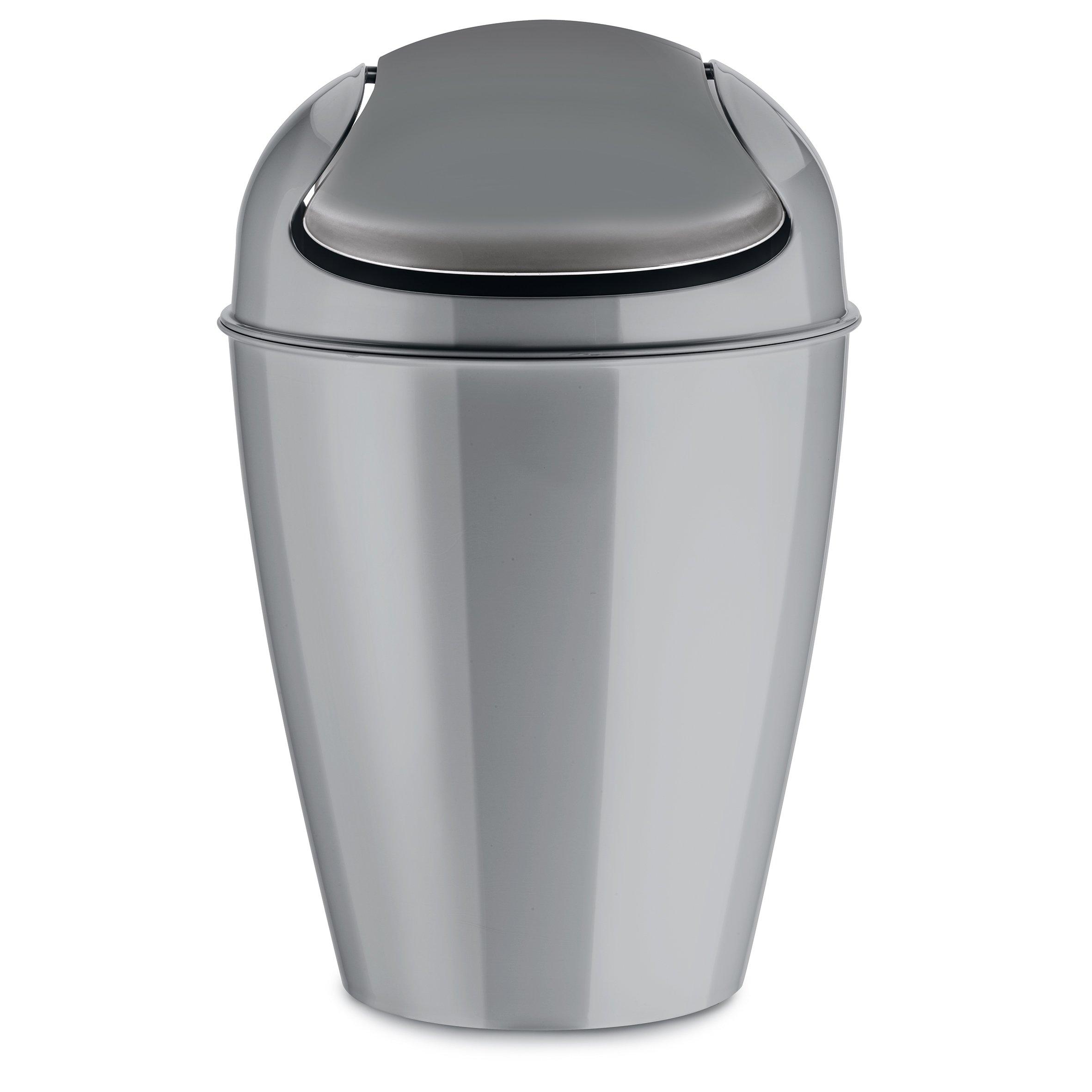 Koziol 5777632 DEL S Swing-Top 5 L Wastebasket