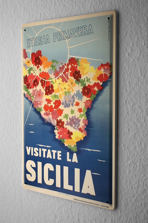 Cartel de viaje decorativo de 20 x 30 cm