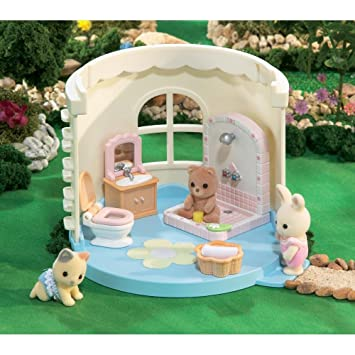 Calico Critters Bathroom For Playhouse Dollhouses Amazon Canada - Calico critters bathroom