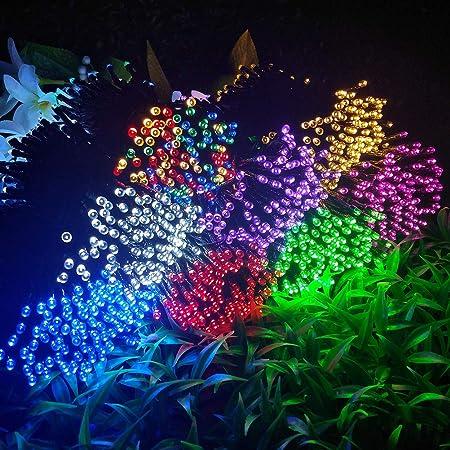 Hihey LED Luces de Hadas 8 Modos Luces de Hadas solares ...