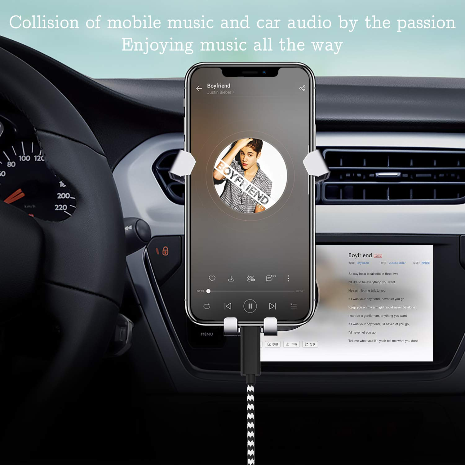 for Phone XS//XS Max//X//8//8 Plus//7//7Plus Pod Pad,Home//Car Stereo,Speaker,Headphone iUKUS Car Aux Cable Compatible with Phone XS Phone 7 Audio Aux Cord iOS Phone 3.5mm Aux Cable Volume Control