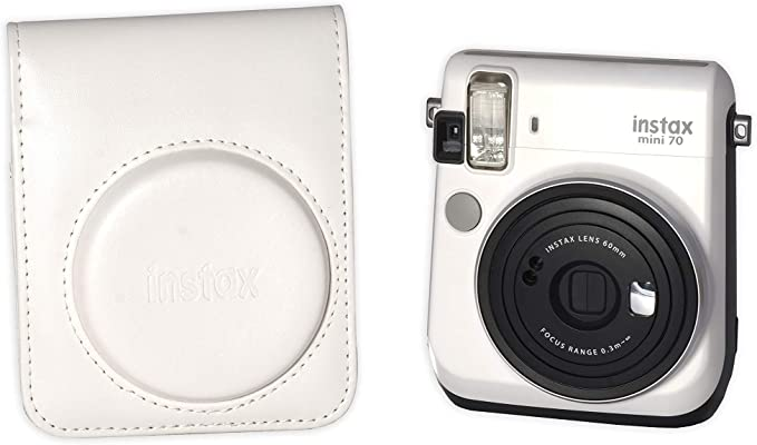 Fujifilm Funda instax Mini 70 White Polipiel Funda Original INSTAX para cámara Mini 70: Amazon.es: Electrónica