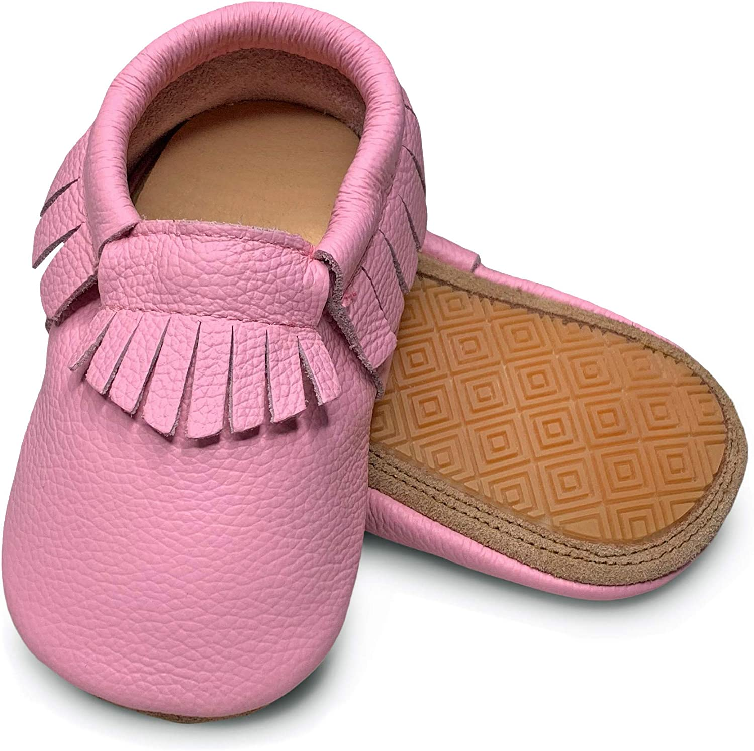 Lucky Love Toddler Moccasins • Premium Leather • Infant, Baby & Toddler Shoes for Girls and Boys