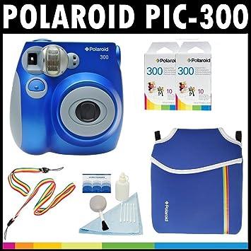 227960501d7bd Polaroid appareil photo analogue à film instantané PIC-300 (Bleue) avec (3)  paquets de 10 films ...