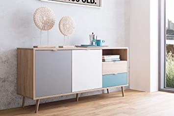 Lifestyle4living Sideboard In Sonoma Eiche Nachbildung Kommode Mit