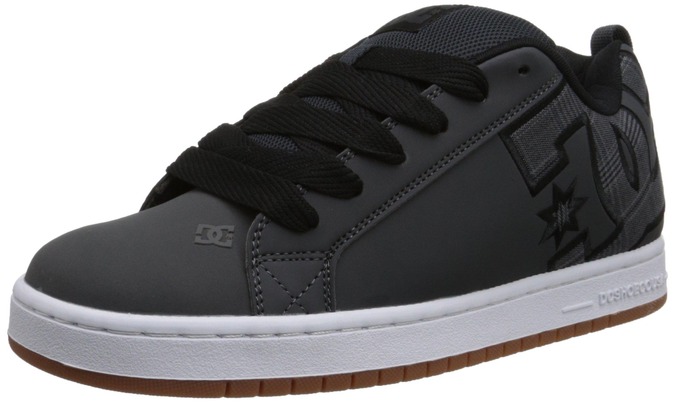 DC Men's Court Graffik SE Skate Shoe,Grey/Black,6 M US