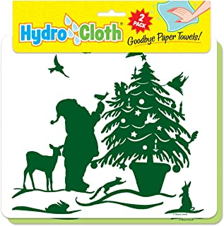 product image for Fiddler's Elbow Hydro Cloth | Set of 2 | Christmas Designs | Eco-Friendly Dishcloths | Large Dish Cloths | Paper Towel Replacements (Santa & Reindeer)