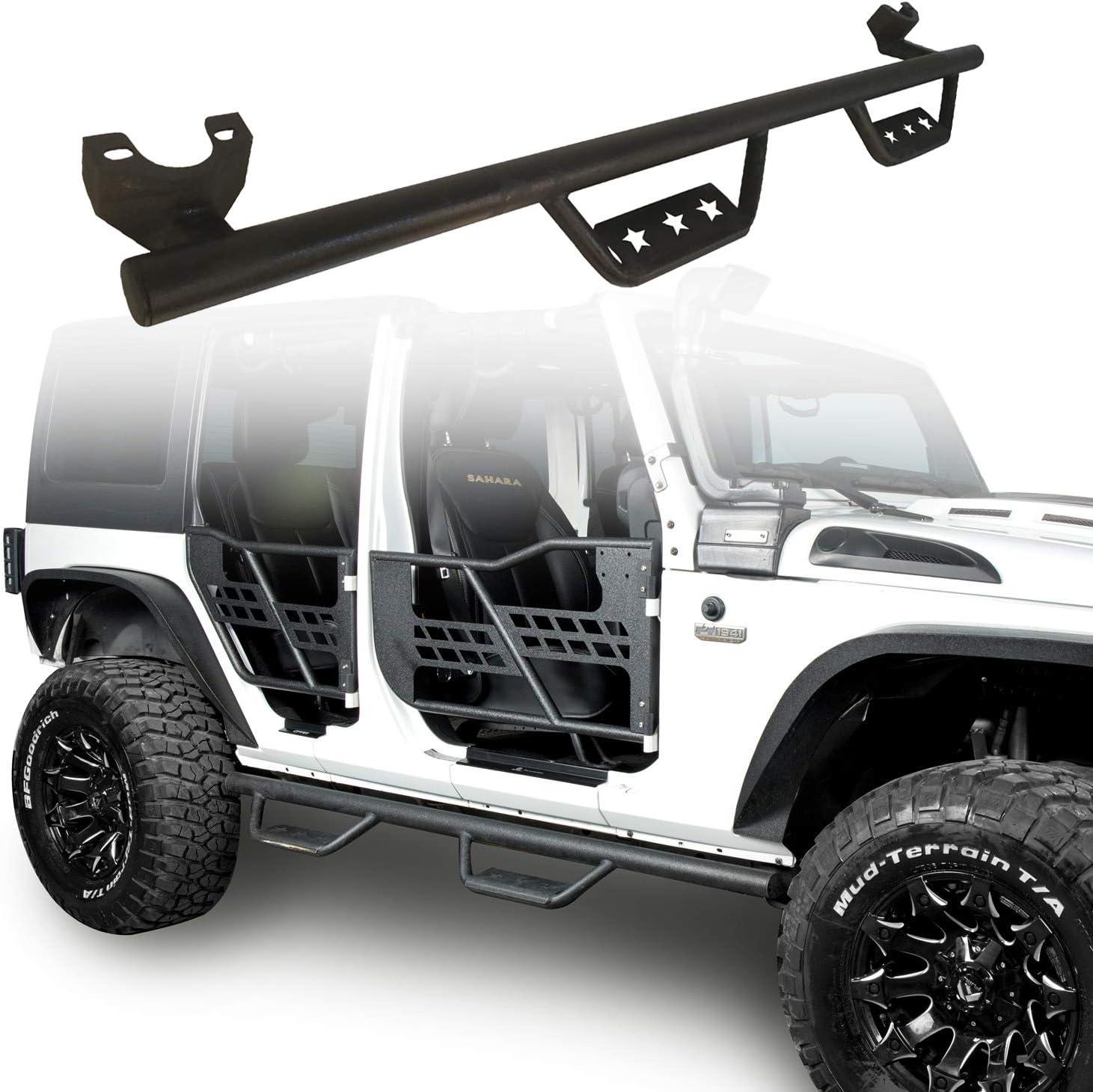 Side Step Armor Nerf Bars Wide Drop Boards For 07-18 Jeep Wrangler JK 4Door
