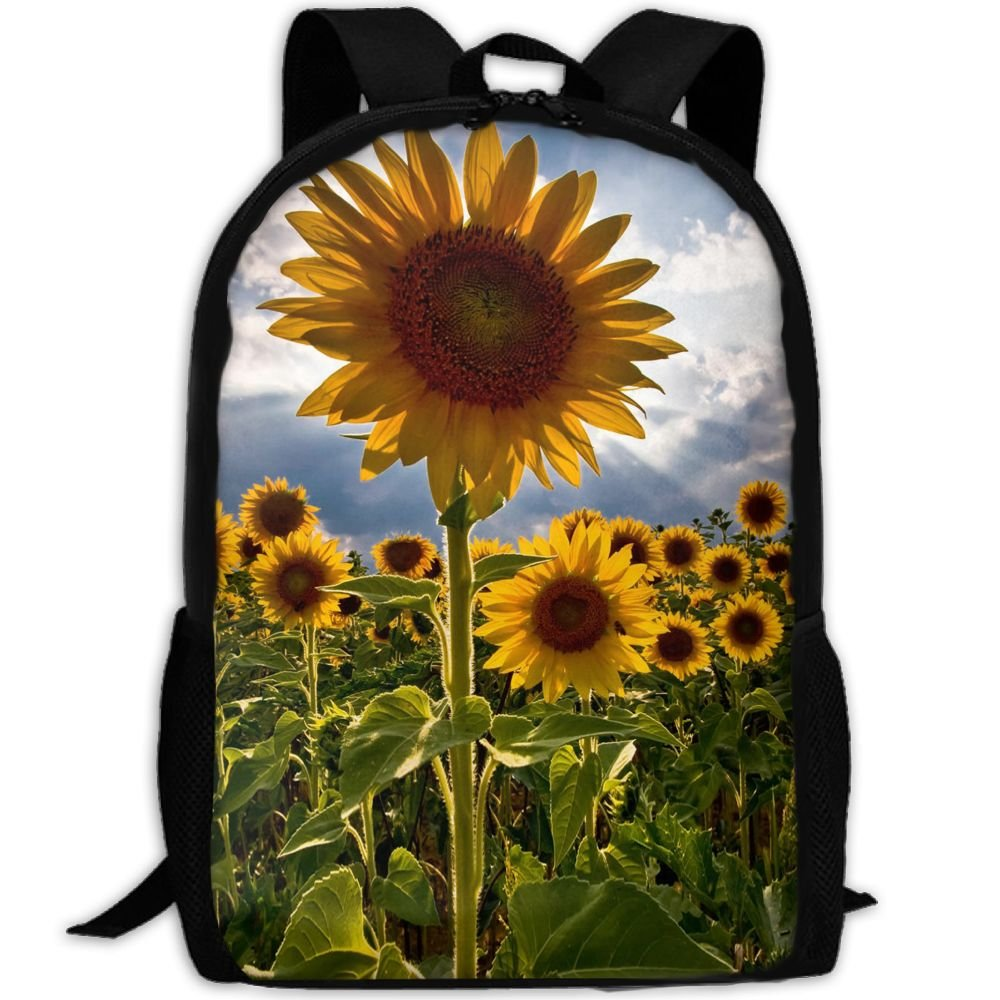 on sale SZYYMM Creating Amazing Sunflowers Oxford Cloth Fashion Backpack,Travel/Outdoor Sports/Camping/School, Adjustable Shoulder Strap Storage Backpack For Women And Men