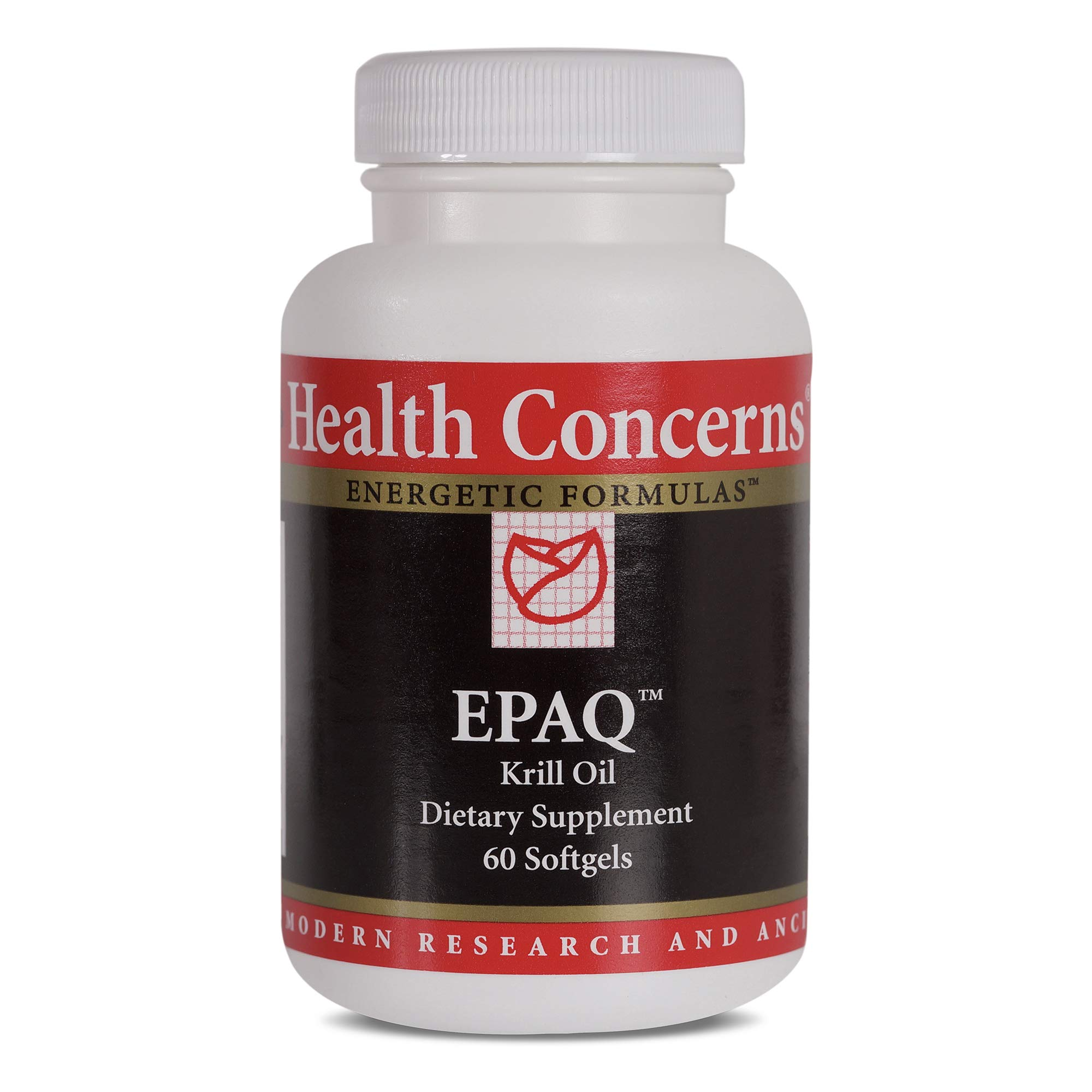 Health Concerns - EPAQ - Krill Oil Chinese Dietary Supplement - Anti-Inflammation Support - with Krill Oil - 60 Softgels per Bottle by Health Concerns