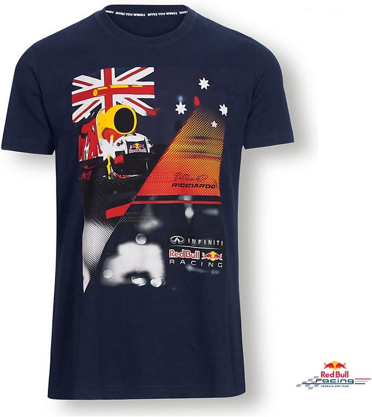 Camiseta de piloto de formula 1 Infiniti Red Bull Racing Team de Ricciardo , hombre, azul marino, X-Large: Amazon.es: Deportes y aire libre