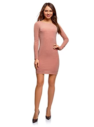 bieten eine große Auswahl an neueste auswahl schnell verkaufend oodji Ultra Damen Enges Kleid aus Glänzendem Stoff